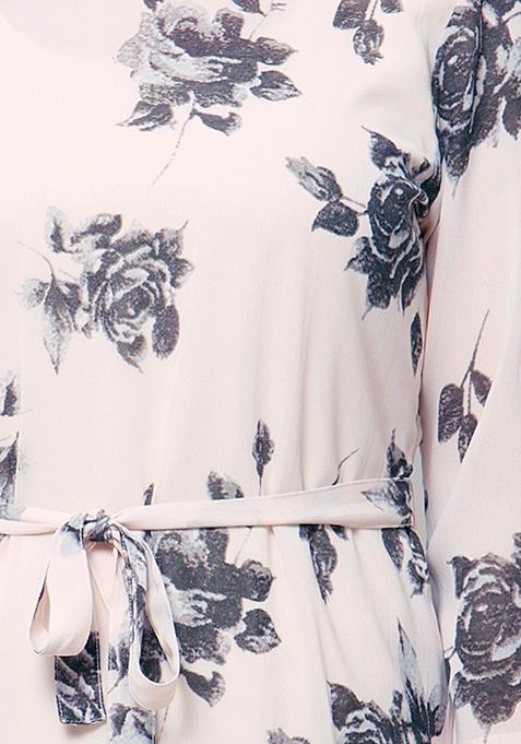 CURVE Sheer Maxi Dress - Rose Bliss