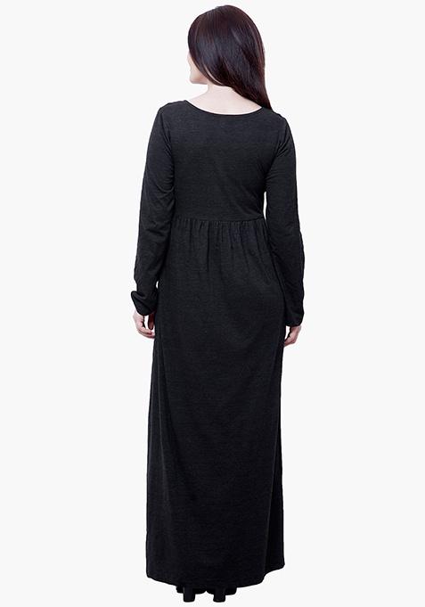 CURVE Jersey Maxi Dress - Charcoal