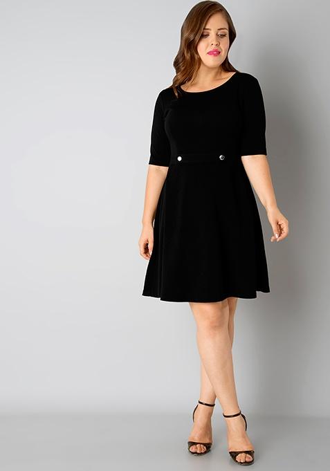 CURVE Skater Dress - Black