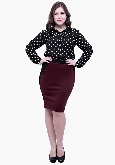 CURVE On-the-Curves Pencil Skirt - Oxblood