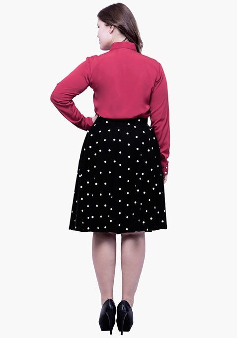 CURVE Flare Wonder Midi Skirt - Polka