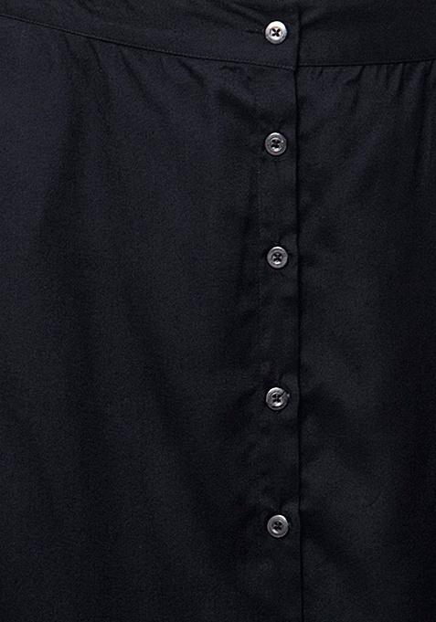 CURVE Buttoned Midi Skirt - Black