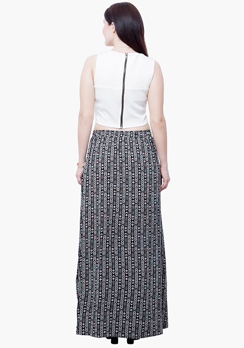 CURVE Aztec Flare Maxi Skirt