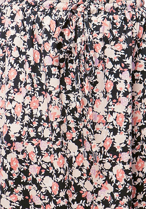 CURVE Floral Flare Maxi Skirt