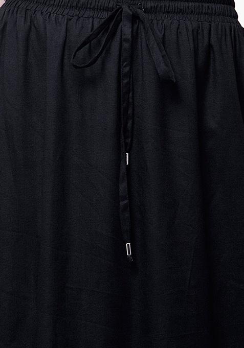 CURVE Black Flare Maxi Skirt