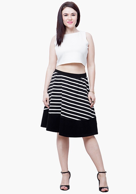 CURVE Stripe Tune Midi Skirt