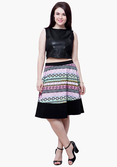 CURVE Aztec Tune Midi Skirt