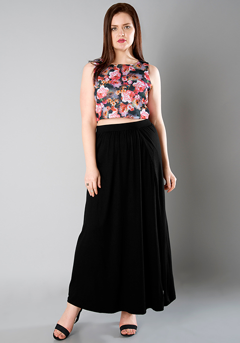 CURVE Wrap Maxi Skirt - Black