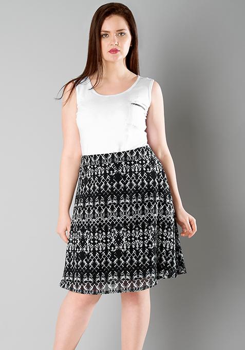 CURVE A-Line Skirt - Aztec
