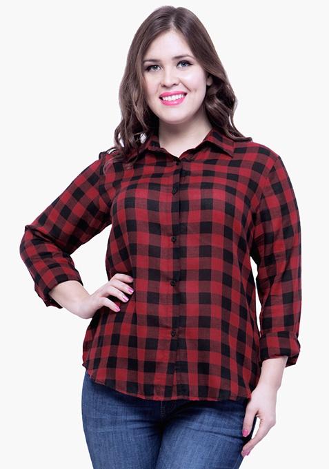 CURVE Tartan Time Shirt - Red