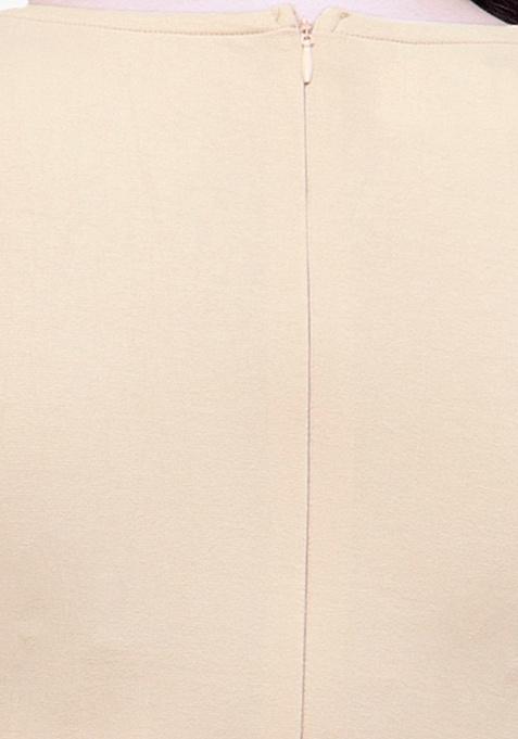 CURVE Sequin Peplum Top - Beige