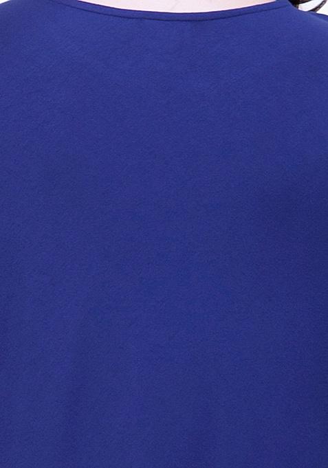 CURVE Navy Handkerchief Hem Top