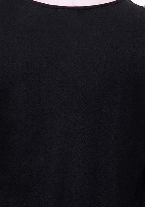 CURVE Black Handkerchief Hem Top