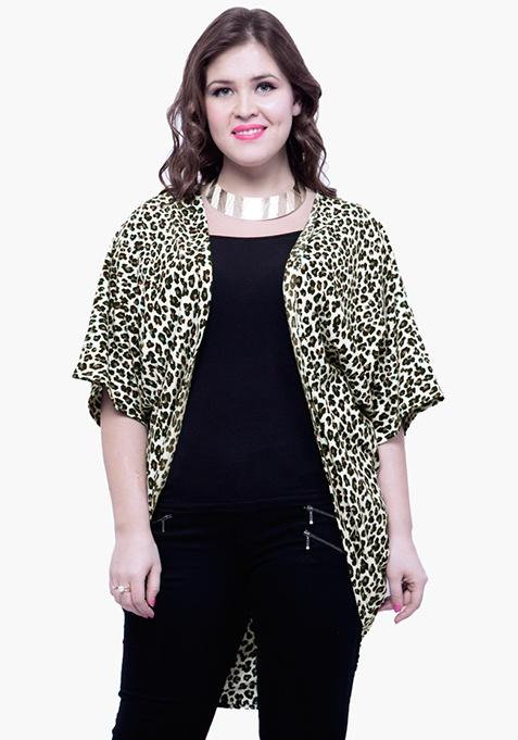 CURVE Leopard Jersey Shrug