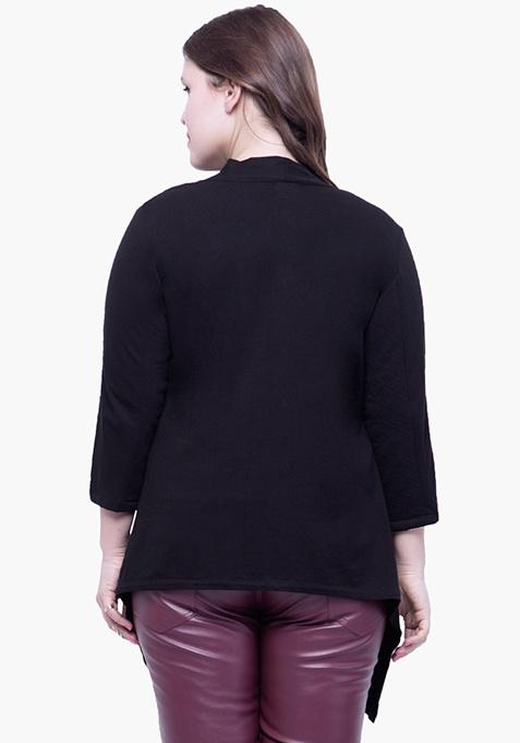 CURVE Sleeve Patch Shrug - Black