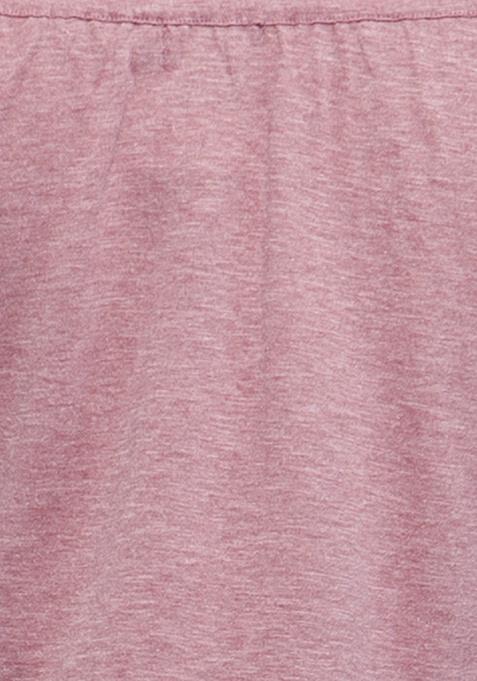 CURVE Off-Shoulder Slub Top -  Old Rose