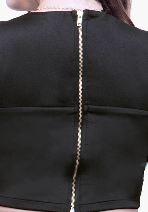 CURVE Scuba Sass Crop Top - Black