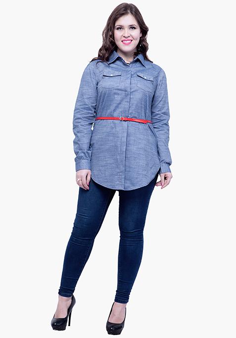 CURVE Chambray Shirt - Light