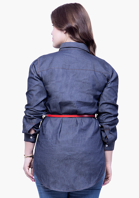 CURVE Chambray Shirt - Dark