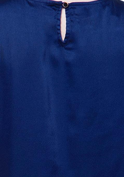 CURVE HiLo Satin Top - Blue