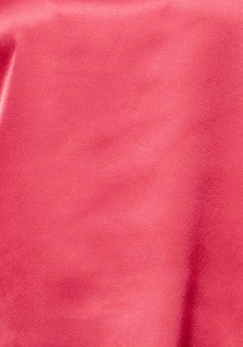 CURVE HiLo Satin Top - Red