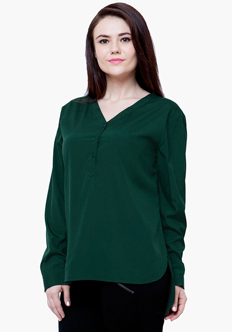 CURVE 9 to 5 Blouse - Green