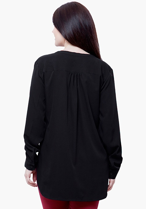 CURVE 9 to 5 Blouse - Black