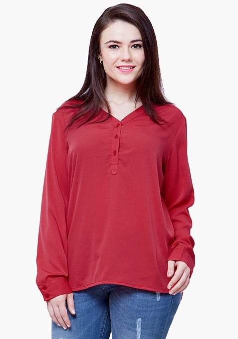 CURVE 9 to 5 Blouse - Red
