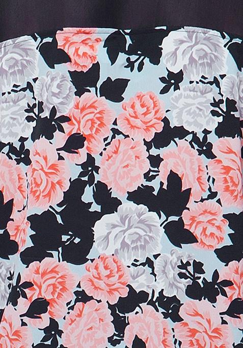 CURVE Haute Mesh Top - Dusk Floral