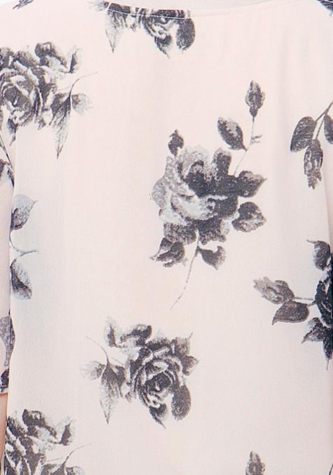 CURVE Longline Tunic Top - Floral