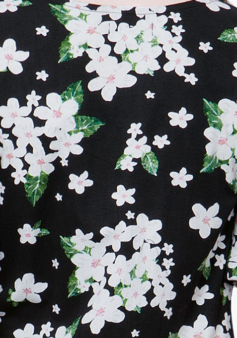 CURVE Maxi Tunic Top - Floral