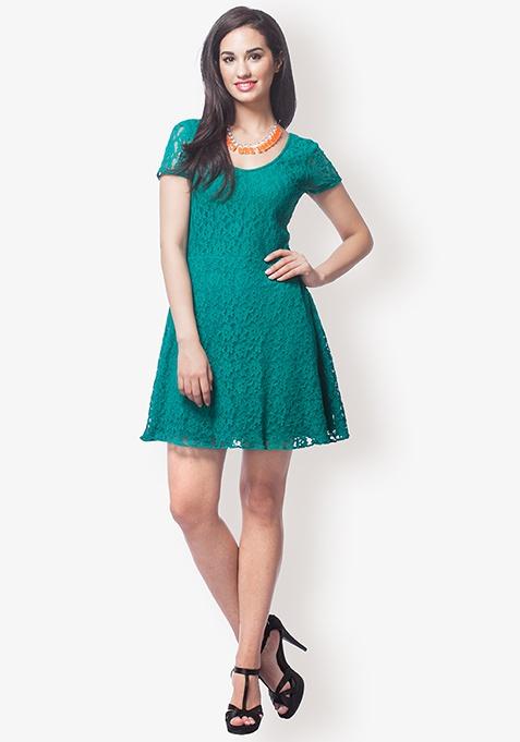 Green Fairy Lace Dress