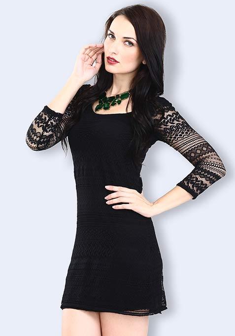 Lace Epiphany Dress - Black