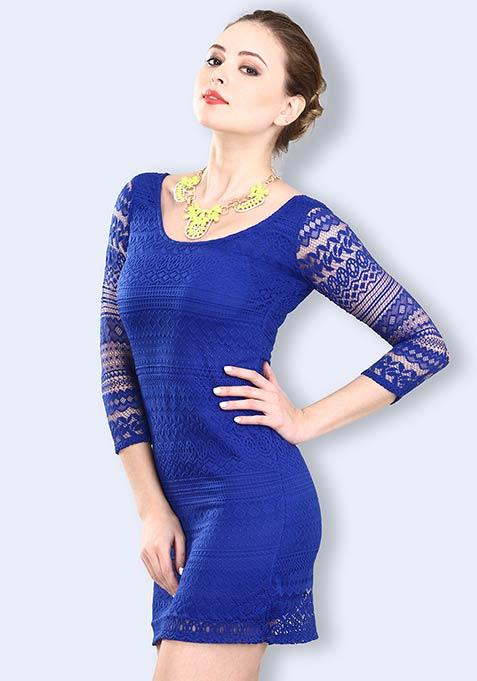 Lace Epiphany Dress - Blue
