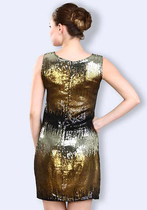 Gleaming Glory Shift Dress
