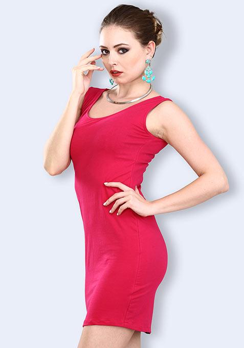 Zip It Up Mini Dress - Pink