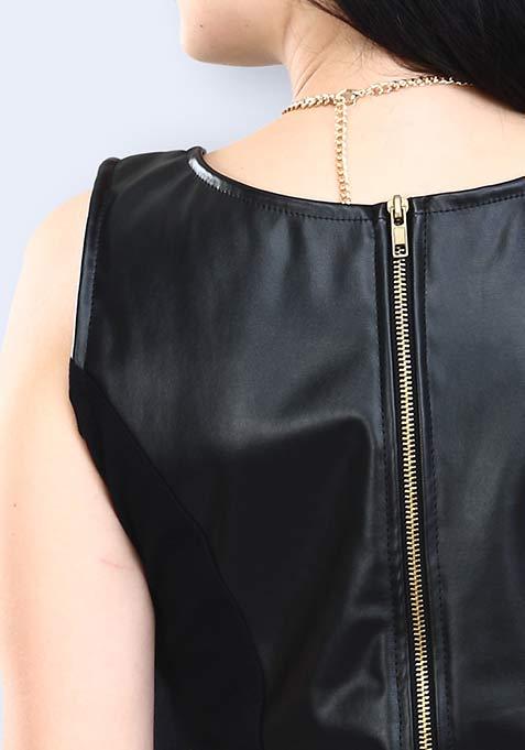 Dark Avenger Leather Dress