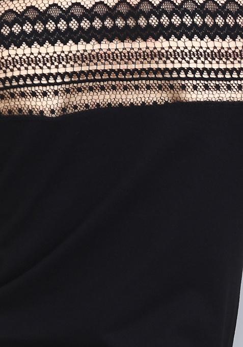Lacy Side Up Mini Dress