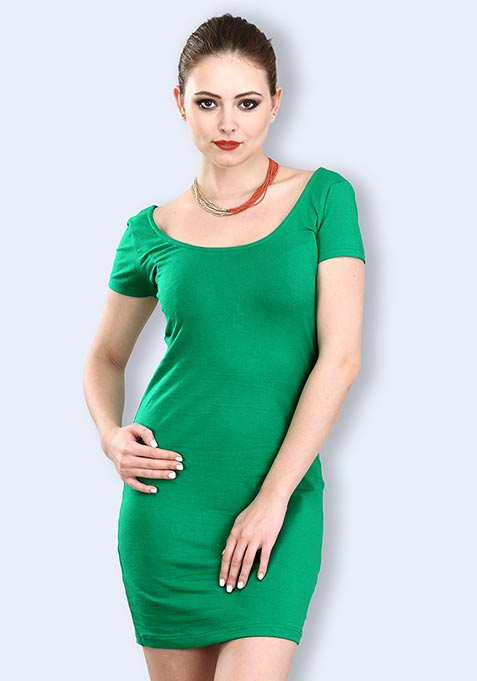 Green Gaze Bodycon Dress