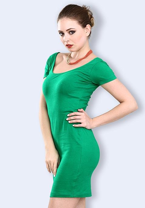 Green Gaze Bodycon Dress