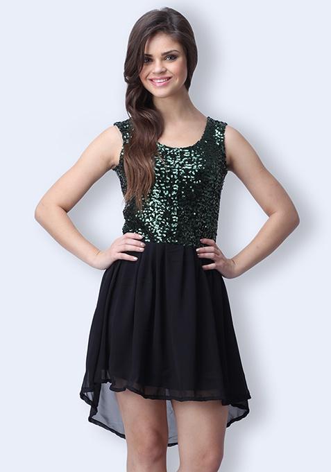 Shine Bright Sequin Dress - Emerald