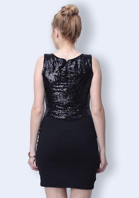 Dark Shine Mini Dress
