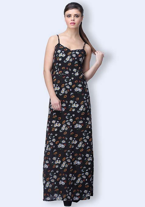 Floral Flair Maxi Dress