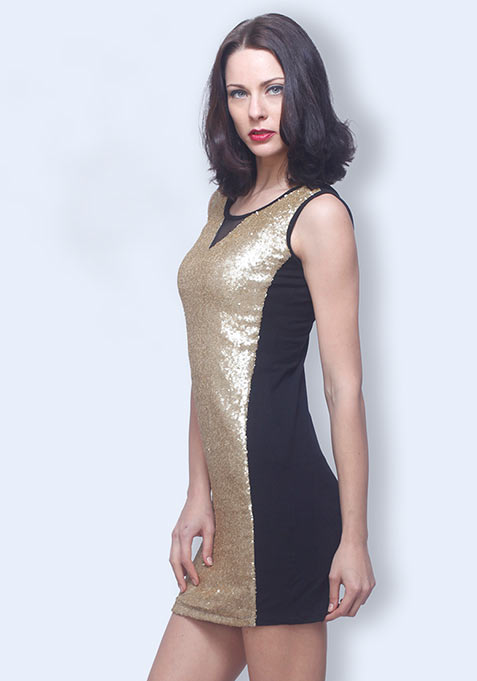 Sequin Fever Dress - Gold