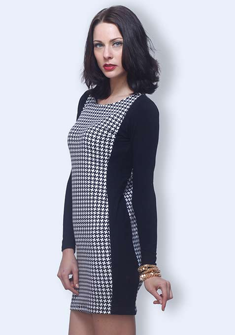 Witching Hour Houndstooth Dress