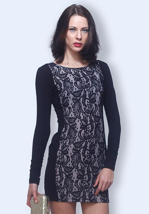 Lace Impact Bodycon Dress