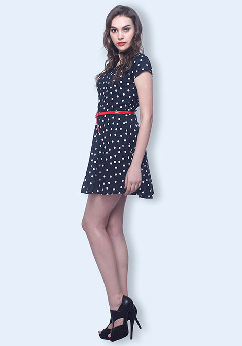 Dotted Story Skater Dress