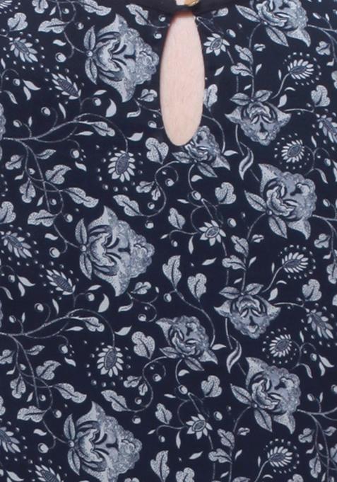 Night Flower Blouson Dress