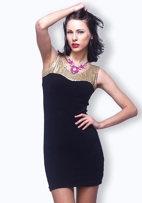 Shining Star Dress - Gold