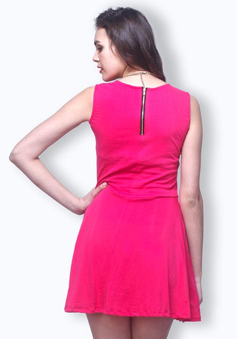 Last Dance Skater Dress - Pink